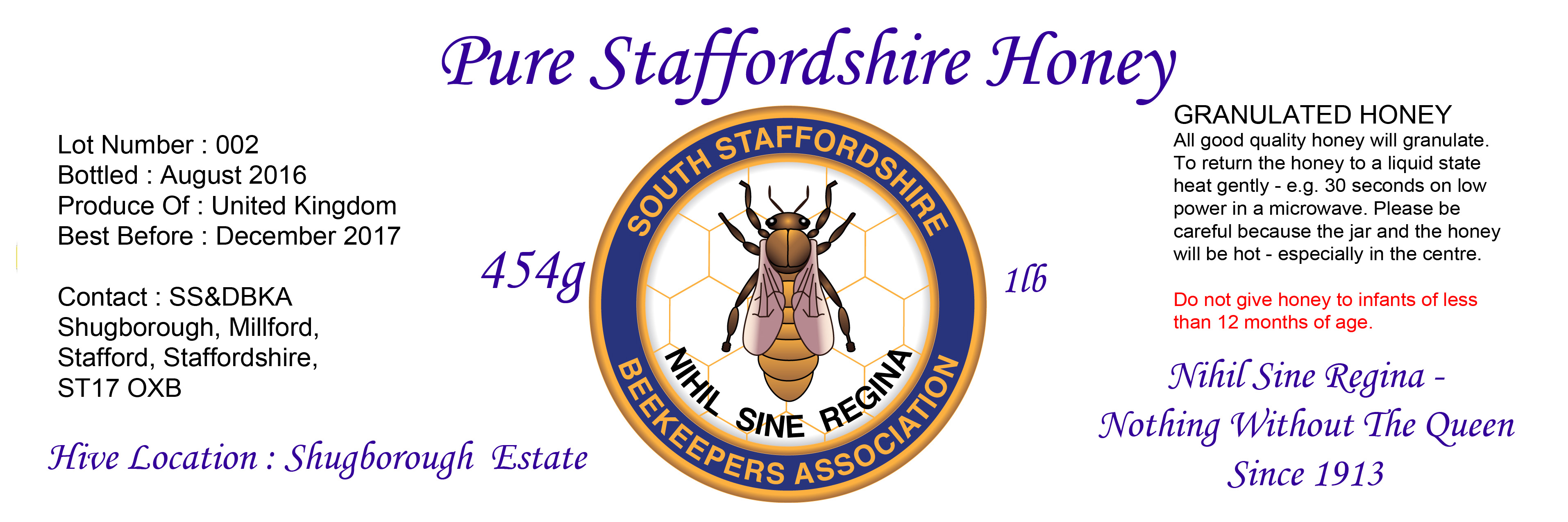 Shugborough Honey Image